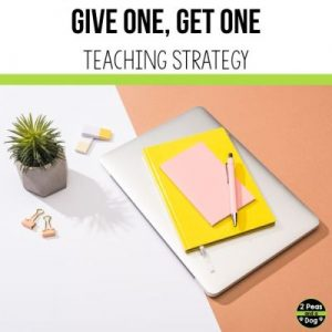 The Give One, Get One teaching strategy ensures that all students are involved and participating in the lesson.