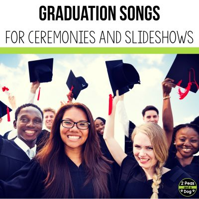 Graduation is an important part a student's life. Use these 27 graduation songs for graduation ceremonies or end of the year slideshows from 2 Peas and a Dog.