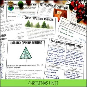 Engaging middle school Christmas activities for the month of December and the week leading up to Winter Break from 2 Peas and a Dog.
