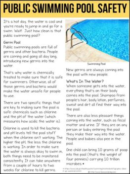 Public Swimming Pool Safety Non-Fiction Article