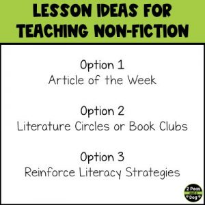 Teaching non-fiction in middle school is often overlooked. Learn why you should teach non-fiction in middle school as well as three different lesson ideas.