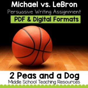 Persuasive Writing Assignment Michael vs LeBron | Distance Learning