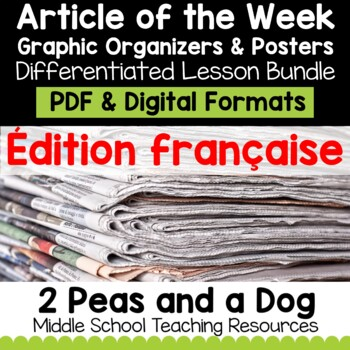 Article of the Week Differentiated Lessons FRENCH | Distance Learning