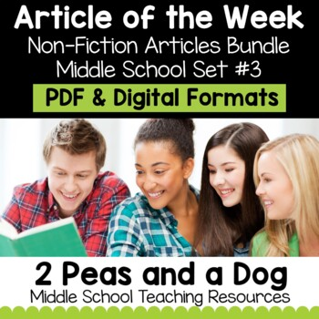 Article of the Week Non-Fiction Articles Bundle #3 | Distance Learning