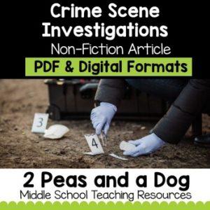 Crime Scene Investigations Non-Fiction Article