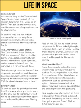 Life In Space Non-Fiction Article