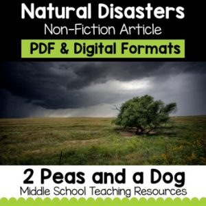 Natural Disasters Non-Fiction Article
