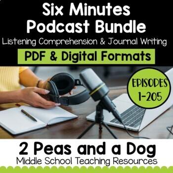 Six Minutes Podcast Unit Bundle | Distance Learning