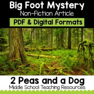 The Mystery of Big Foot Non-Fiction Article