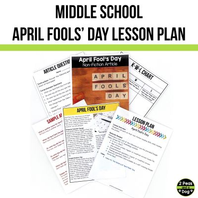 Use this middle school April Fools' Day lesson to help your students learn about the background of this topic.