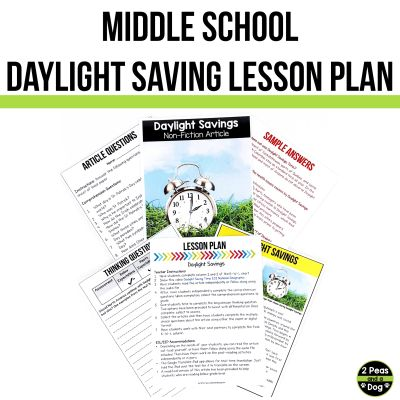 Use this middle school Daylight Saving lesson to help your students learn about the background of this topic.