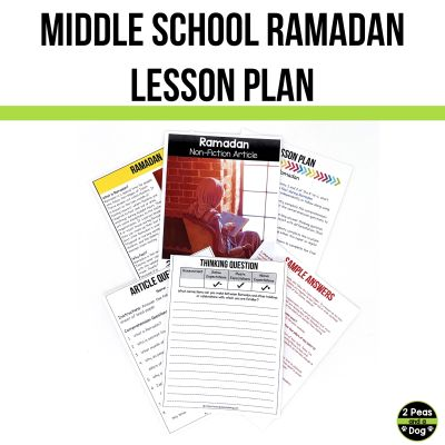 Use this middle school Ramadan lesson to help your students learn about the background of this topic.