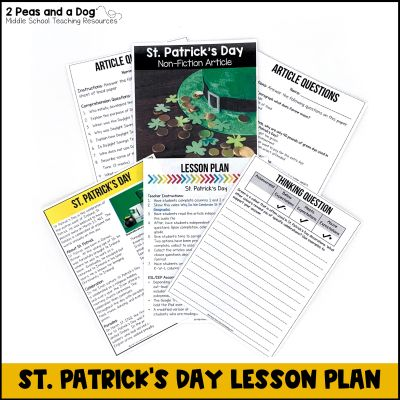 Use this middle school St. Patrick's lesson to help your students learn about the background of this topic.