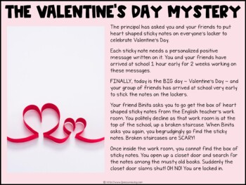 Valentine's Day Digital Escape Room | Distance Learning