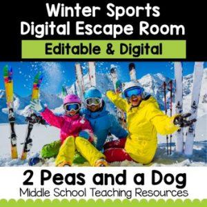 Winter Sports Digital Escape Room | Distance Learning
