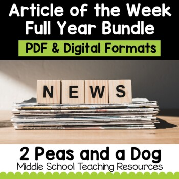 Article of the Week Full Year Mega Bundle | Distance Learning