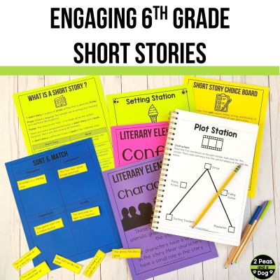 These engaging 6th grade short stories are a fantastic resource to help you teach reading in your middle school ELA classroom from 2 Peas and a Dog.
