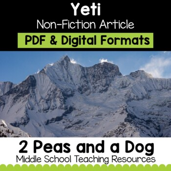 The Yeti Non-Fiction Article | Distance Learning