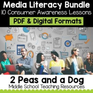 Media Literacy Bundle 2 - Consumer Awareness Lessons