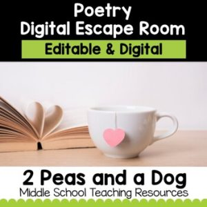 Poetry Digital Escape Room | Distance Learning
