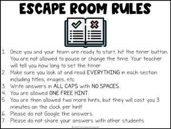 End of the Year Digital Escape Room | Distance Learning