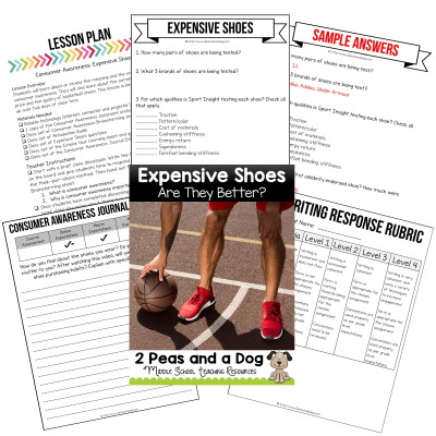 Help your students develop a deeper understanding of consumer awareness and media literacy with this engaging lesson which questions if expensive basketball shoes are actually worth the price. This lesson examines several popular brands and explains what was found when they tested each shoe.