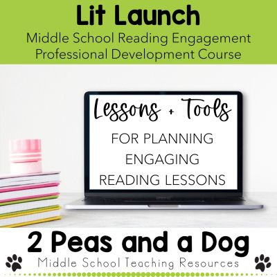 Lit Launch is a professional development course for middle school teachers. In this course, you will transform your reading instruction in 4 weeks by learning how to craft engaging lessons.