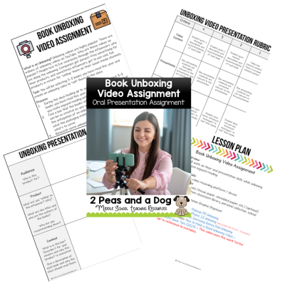 Students love social media and YouTube culture. Use their knowledge and excitement to promote reading in your classroom. Students select 3 - 5 books they have read and unbox them for the class. Students can present this information in a video format or a live presentation. This can be used with any fiction or non-fiction books.