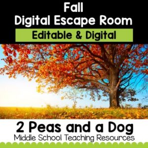 Fall Digital Escape Room | Distance Learning