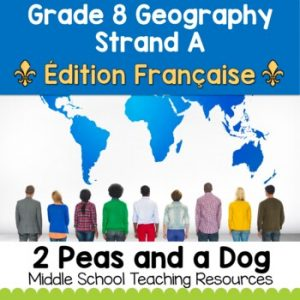 Grade 8 Geography Global Settlement Patterns and Sustainability FRENCH