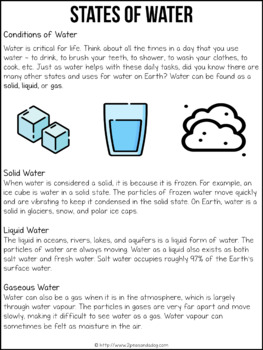 Grade 8 Science Water Systems | Distance Learning