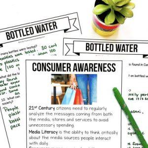 Bottled Water Lesson